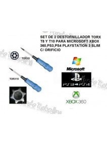 Set 2 Destornilladores Seguridad Torx T8 y T10 Xbox 360, PS4, PS4 Slim Fat Pro