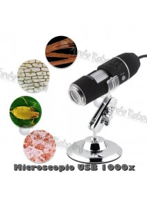 Microscopio Digital USB Modelo 1000X 2.0 MP / 8 Luces LED
