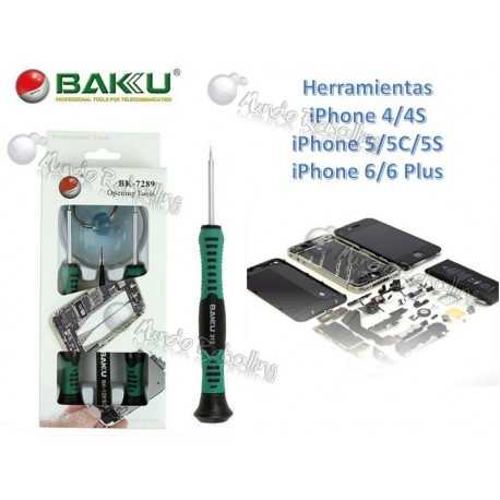 Baku Set Herramientas iPhone 4/4S/5/5C/5S/6/6 Plus / BK-7289