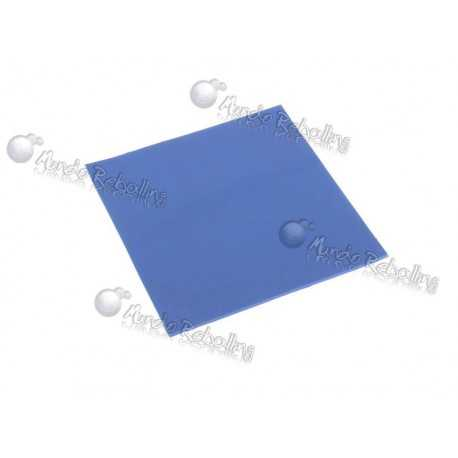Lamina Disipadora Termal Azul (Chicle) / 100mm x 100mm x 2mm