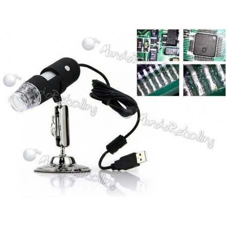 Microscopio Digital USB Modelo BY012B 20X-500X 2.0 MP / 8 Luces LED