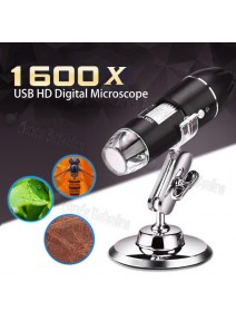 Microscopio Digital USB Modelo 1600X 2.0 MP / 8 Luces LED