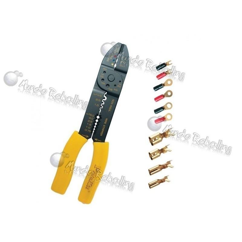 Crimpeadora + Pelacables / Pro's Kit 8PK-313B / 5 en 1