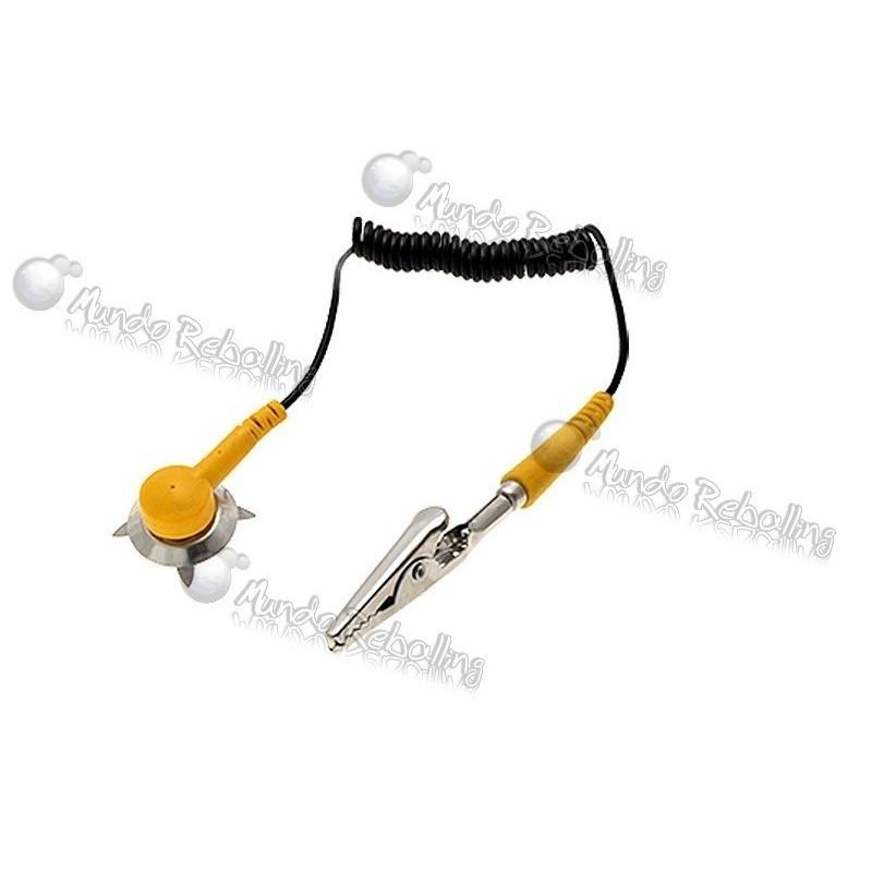 Cable antiestatica ESD de puesta a tierra con pinza cocodrilo